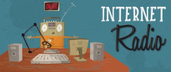 illustration, branding, business, graphic design, internet radio, createschool