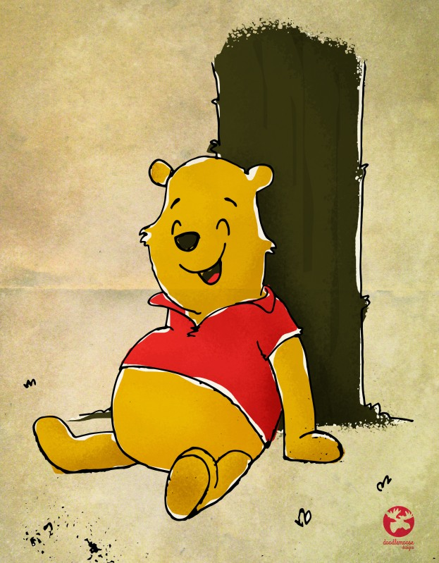 Winnie the Pooh Illustration for Daily Doodle