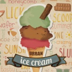 ice cream illustration for parlour