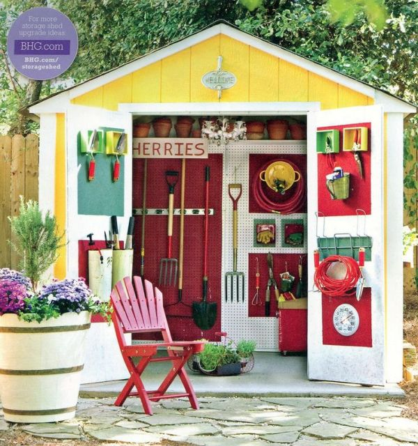 colourful shed