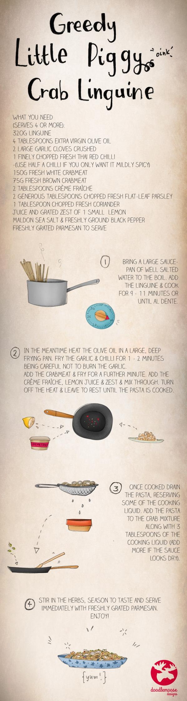 crab linguine illustrated recipe